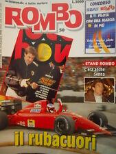 ROMBO 50 1990 Speciale Motor SHow Jean Alesi - Ayrton Senna