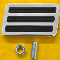 Polished Aluminum Brake Pad Pedal Street Rod Hot Rat