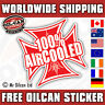 100% AIRCOOLED VOLKSWAGEN IRON CROSS car sticker red old school 85mm