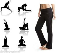 WOMENS BONDS BLACK ROLL DOWN TRACKIES TRACK PANTS TRACKPANTS YOGA GYM  S M L XL