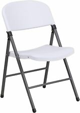 Flash Furniture White Plastic Folding Chair New