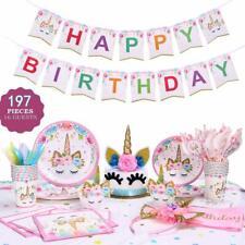 197 pcs Unicorn Party Supplies Set & Tableware Kit Birthday Decorations 🦄🦄🦄