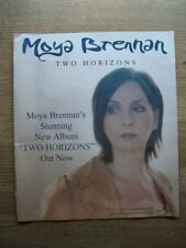 MOYA BRENNAN - TWO HORIZONS - 2003 - poster press advert 31 X 27 cms