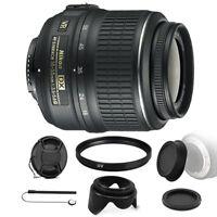Nikon AF-P DX NIKKOR 18-55mm f/3.5-5.6G VR Lens with Accessories