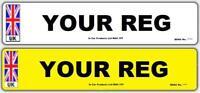 Pair Union Jack Reg MOT UK Road Legal Car Van Reg Registration Number Plates