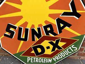 Emailleschild Sunray Petrol USA Auto Oldtimer American Diner Vintage Benzin Öl