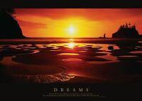 LANDSCHAFTEN LANDSCAPES POSTER DREAMS SONNENUNTERGANG SUNSET MEER