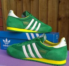 Vtg adidas Dragon 2011 green casuals RARE c/w..uk size 10.5