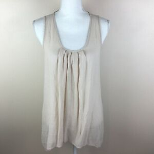 Spense Womens Pale Pink Sleeveless Medium Top