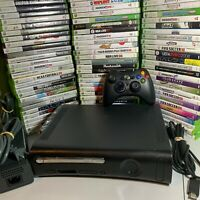 Xbox 360 Black Console Bundle Controller Cables HDD 5 Video Games Microsoft