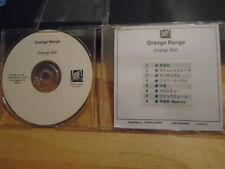 RARE PROMO Orange Range CD Orange Ball publishing J-POP rock Ryukyudisko remix !