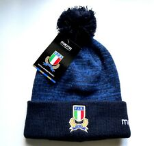 ITALIA RUGBY Macron BOBBLE HAT Pompom Toque Italy Navy   Royal New Tags c5a169272e89
