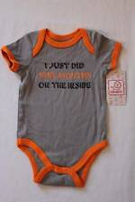 NEW Baby Boys Bodysuit 6 - 9 Mos Creeper 1 Pc Outfit Just Did 9 Months Gray Jail