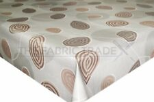 Earth Leaves Brown & Olive PVC Tablecloth Vinyl Oilcloth Kitchen Dining Table