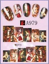 1,03€/Bogen  3 Bogen Nagelsticker Fantasy Girls 2 Nageldesign Nail Art  A979-981