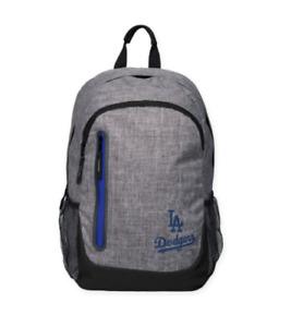 Los Angeles Dodgers BackPack Back Pack Book Sports Gym School Bag Heather Grey