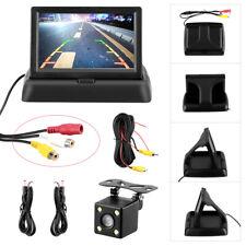 """Einparkhilfe Rückfahrkamera + 4,3"""" Klappbar LCD Monitor Nachtsicht mit Kabel"""