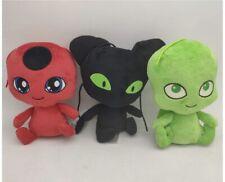 Miraculous Of Adventures Ladybug Tikki Plagg Wayzz Plush Toys 3 Pack