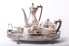 Antique Tea Set Silver Plated William Hutton Sons Goldsmith Silversmiths CO