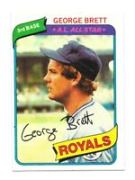 GEORGE BRETT 1980 TOPPS Kansas City ROYALS MLB Baseball Trading CARD #450