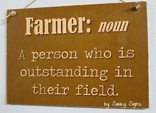 Farmer Noun Country Wooden Shabby Chic Family John Deere Tractor Farm Sign