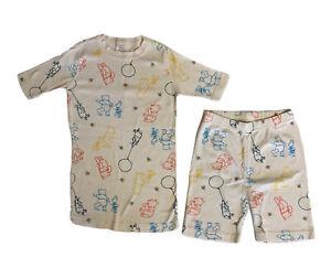 Hanna Andersson Boy Or Girl 140 / 10 Short John Pajamas Winnie The Pooh Cream