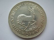 South Africa 1958 silver 5 Shillings Crown VF