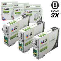 LD Reman Replacement T069120 for Epson T069 69 Set of 3 Black Inkjet Cartridges