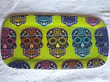 TarHong Day of the Dead Sugar Skull Serving Platter Tray Melamine Halloween