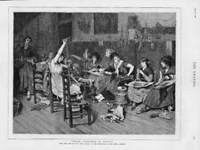 1880-antiguo arte fino de impresión Perla largueros Venecia van HAANEN mujeres (079)