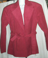 I. MAGNIN Adolph Schuman Vintage Red Suede Jacket & Skirt Suit Size Unknown (PB)