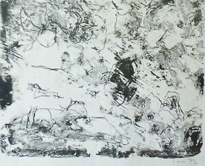ASGER JORN THE STORY ABOUT EXPENSIVE BREAD 1972 HAND SIGNED lim Ed LITHOGRAPH