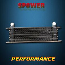 Universal 7 Row AN10 Engine Transmission Aluminum Oil Cooler Trust Style Black