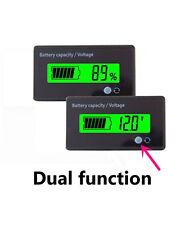 Multifunctional 12V Green LCD Lead-acid Battery Capacity Monitor Gauge Meter