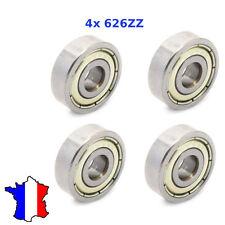 4 x Ball Bearing 626ZZ Roulement à Billes  6*19*6 mm 6x19x6 cnc imprimante 3D