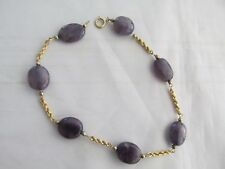 Amethyst and 18ct Gold Chain Bracelet