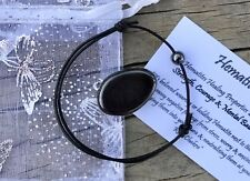 Hematite Reiki Crystal Healing Gemstone Bracelet & Tumble Stone STRENGTH Chakra