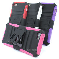 For Apple iPhone 5 Rugged Armor Hard Soft Dual Layer Phone Case Cover Kickstand