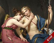 LOVERS FAREWELL ODYSSEY GREEK FANTASY MYTHOLOGY ART PAINTING REAL CANVAS PRINT