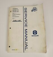 New Holland 10 & 30 Series Tractor Service Manual Vol 1 Part 1 & 2 1995