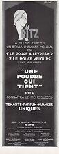 Publicité RITZ poudre Cosmetique Cosmetics Art Deco vintage print ad 1929 -6h