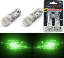 LED Light 50W 3047 Green Two Bulbs Front Rear Turn Signal Park Drive Side