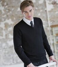 V Neck Patternless Thin Knit Jumpers & Cardigans for Men