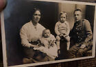 WWI RPPC Manchester Regiment Territorial Soldier & Family Photo Postcard