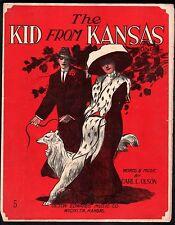 Kid From Kansas 1912 Large Format Sheet Music
