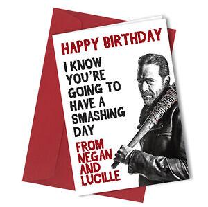 #308 Negan Walking Dead Birthday Greetings Card Comedy Funny Rude