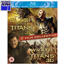 CLASH OF THE TITANS + WRATH OF THE TITANS Blu-ray 3D + 2D (REGION-FREE) 2-MOVIES
