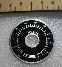 0-100 numbered counter dial scale count number round knob point indicator