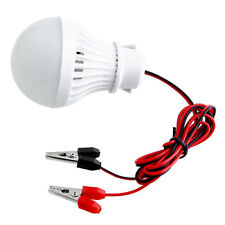 12V 5W LED Bulbs Lamp For Camping Solar Hunting Emergency W/ Clip Light Nett