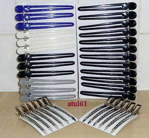 SIBEL ORIGINAL STRONG METAL HAIRDRESSERS HAIR SECTIONING HAIR CLIPS/CLAMPS NEW